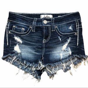 Daytrip Capricorn High Rise Stressed Shorts-SZ 24